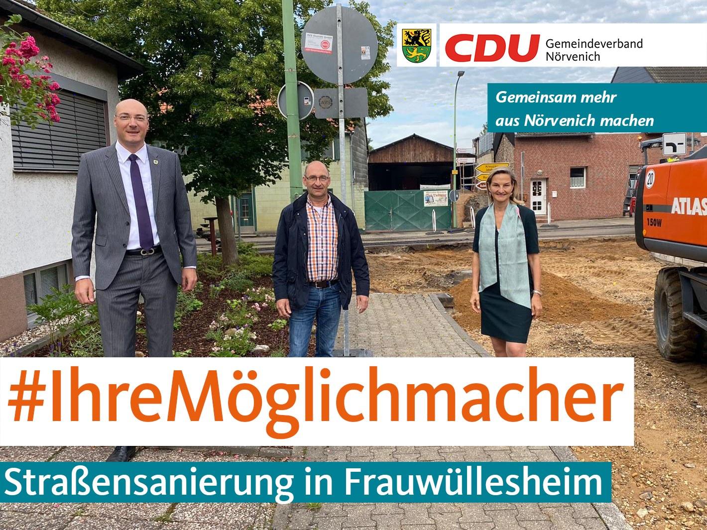 Umfangreiche Straßensanierung in Frauwüllesheim
