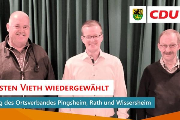 Neuwahl im Ortsverband Pingsheim, Rath & Wissersheim