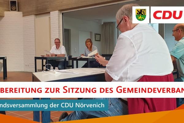 Sitzung des Gemeindeverbandsvorstands